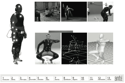 Figure 11. Motion capture and rendering of germaine acogny's dance selections (Jeff Senita, a PhD candidate active in the ATEC program, provided the modeling and animation)