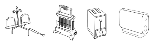 Figure 5: From the fireplace toaster to the Porsche toaster: changed narration, changed design.