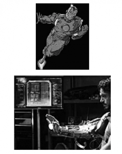 Fig. 4. From 20th century Iron Man to 21st century Iron Man