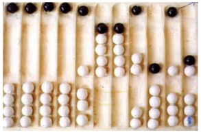 Figure 6: All the arithmetic expected in a computer is available on the abacus.