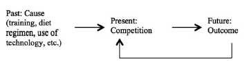 Figure 1. Past, present, and future in the causality chain.
