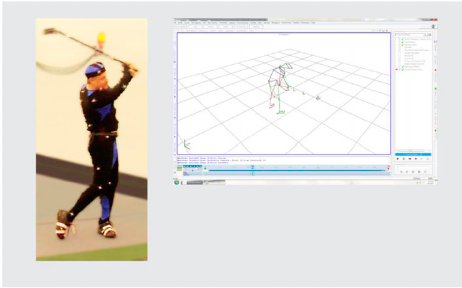 Figure 5. Golf session in the AnticipationScope.