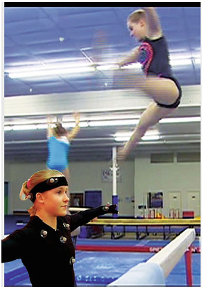 Fig. 4 Members of the USA Olympic Team in the AnticipationScope. Among the observations made: sensory data from, e.g., skin, muscles, tendons, eyelids, ears, nostrils and tongue affect motoric expression