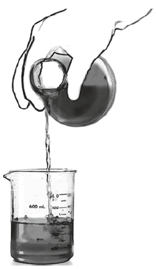 "Fig. 13 Measurement as pouring medicine into beaker (The pharmacist ""computes"" the quantities prescribed)"