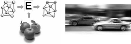 Fig. 10 Quantum computation used in image recognition: apples and a moving car.